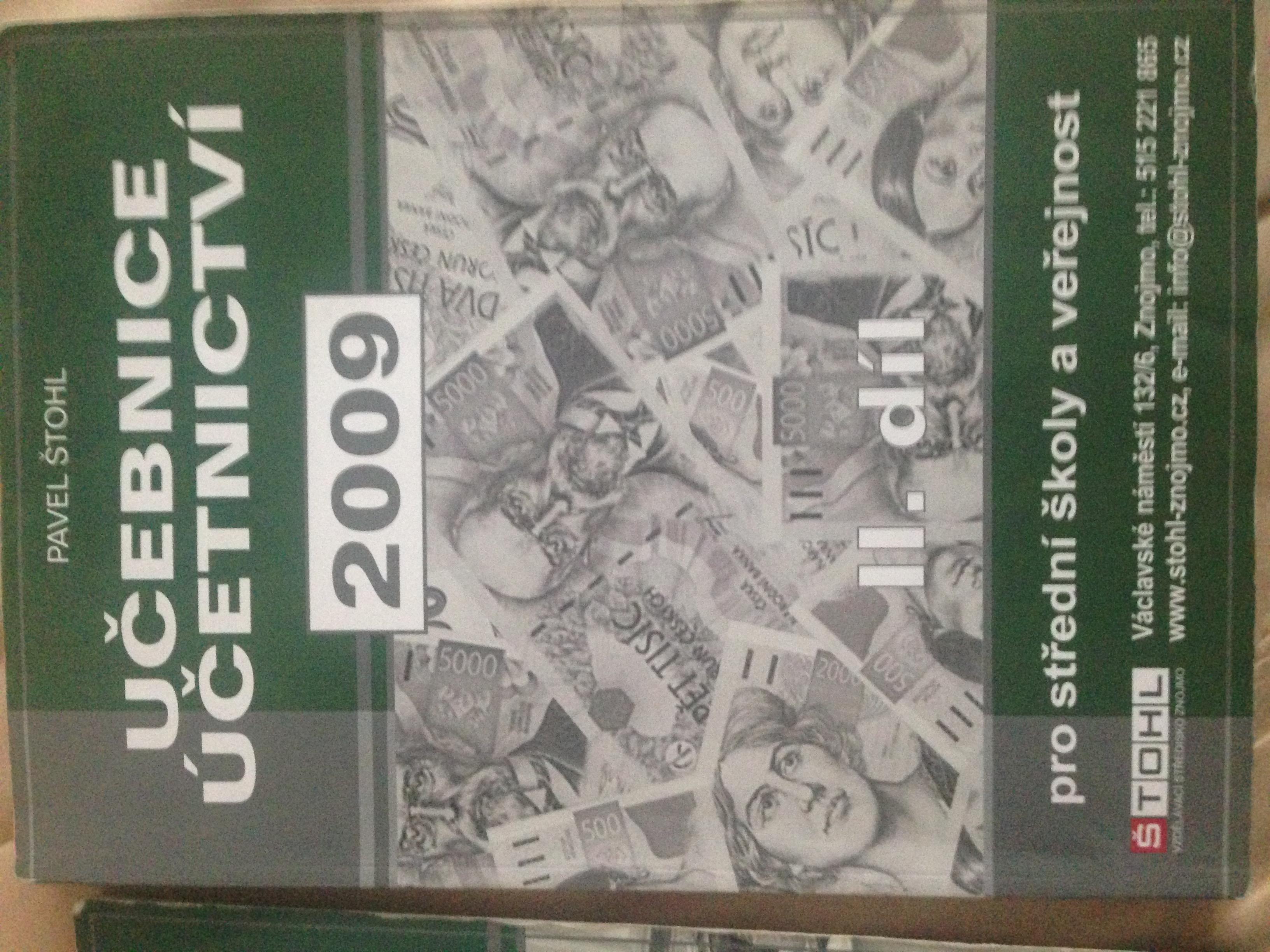 Učebnice Účetnictví 2.díl