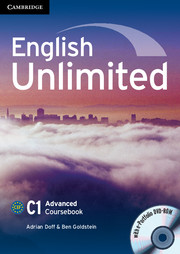 English Unlimited C1 Coursebook + dvd rom