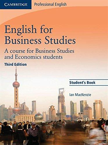English for Business Studies Student's Book, A Course for Business Studies and Economics Students