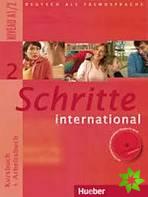 Šestidílná učebnice německého jazyka Schritte international  pro střední školy s pracovním sešitem (vč. audio-CD k pracovnímu sešitu) a českého slovníčku Glossar XXL, 2. díl.