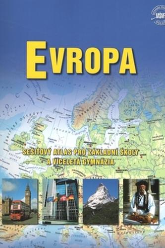 Evropa - sešitový atlas pro základní školy a víceletá gymnázia.