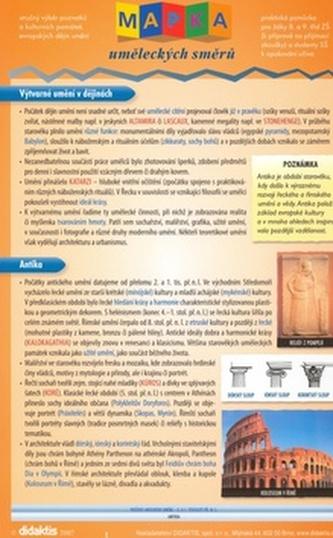 Mapka uměleckých směrů - Náhled učebnice