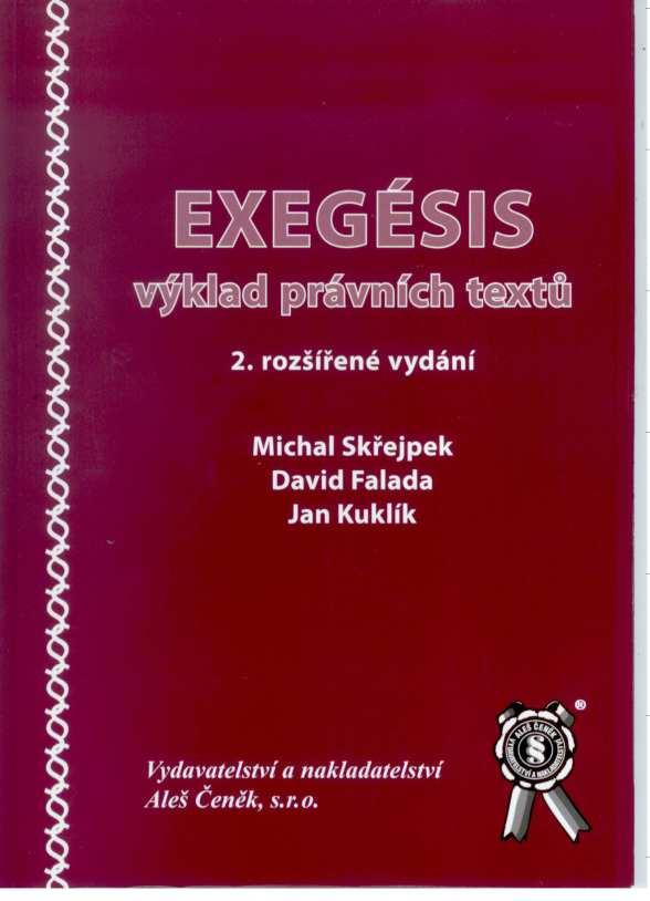 Exegésis - výklad právních textů (2. rozšířené vydání) - Náhled učebnice