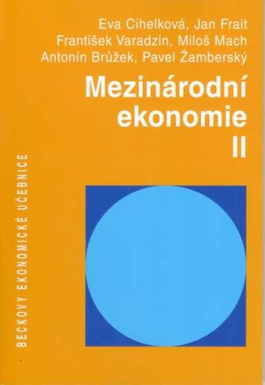 Mezinárodní ekonomie II - Náhled učebnice