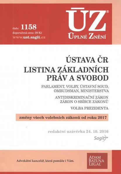 ÚZ č.1158: Ústava ČR, Listina základních práv a svobod